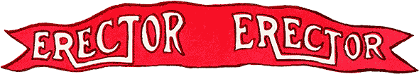 Scanned image of early Erector flag