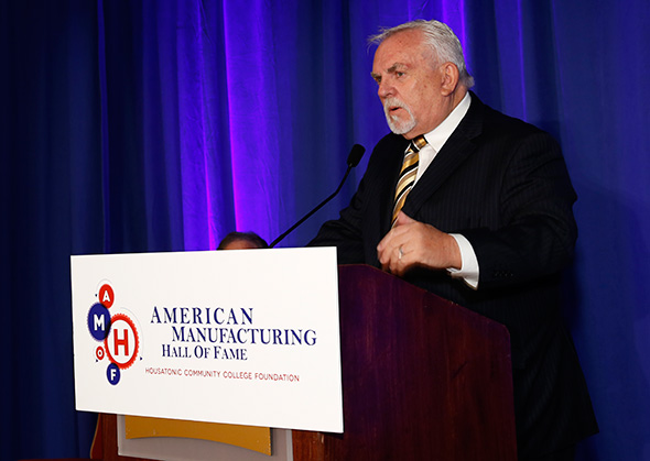 John Ratzenberger speaks at the induction ceremony