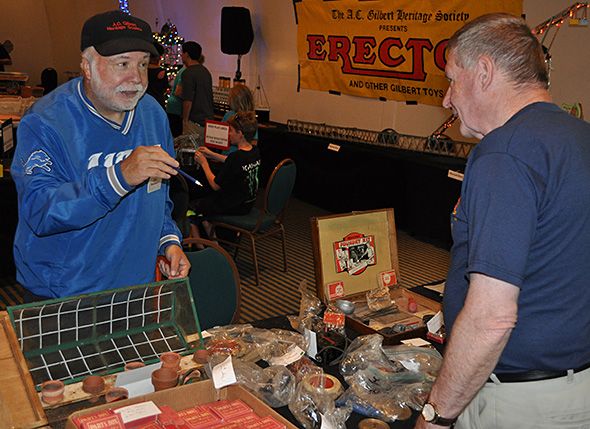 Ray Rosebush (left) with Ken Weinig at the July 12, 2014 A.C. Gilbert Heritage Society Convention in Atlanta.